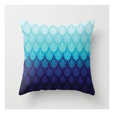 Arctic Ombre! Throw Pillow ($20) ❤ liked on Polyvore featuring home, home decor, throw pillows, patterned throw pillows and graphic throw pillows