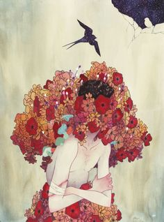 Watercolor illustration by Julian Callos. Beautiful.
