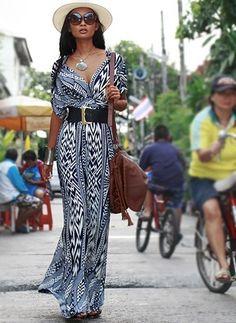 Polyester Short Sleeve Maxi Vintage Dresses