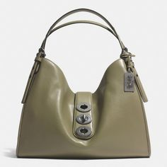 The Madison Triple Turnlock Carlyle Shoulder Bag In Leather from Coach