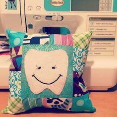 So cute!!! Tooth Fairy Pillow Tutorial