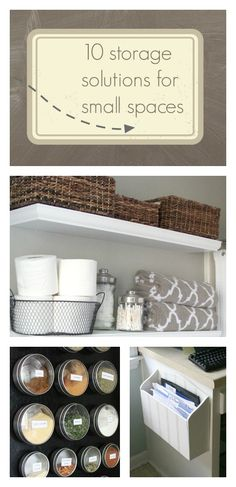 10 storage solutions for small spaces // 320 Sycamore