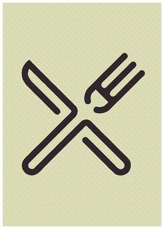 Fork Knife Kitchen Decor Printable Poster Home by HamptyDamptyArt