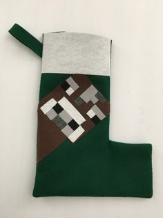 Minecraft Inspired Cow Christmas Stocking