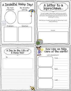 Tons of Spring-themed writing prompts with graphic organizers for grades K-2! Narrative, informative, and opinion writing included. Writing Through the Seasons {Spring}!