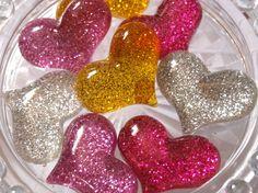 Glitter Heart 29x29mm