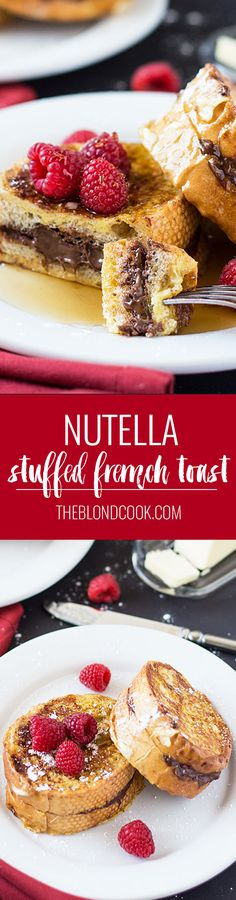 Nutella Stuffed French Toast  Wow!  New special breakfast!!!!  Yummy!!!