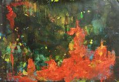 #Soyut Resimler / Abstract #Painting by Pinar Akbaba | #art #arte #painting #abstract #sanat #artgallery #contemporary #modernart #resim #tablo #koleksiyon