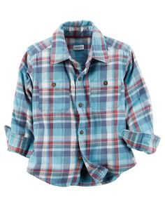 Toddler Boy Brushed Twill Button-Front Shirt from Carters.com. Shop clothing & accessories from a trusted name in kids, toddlers, and baby clothes.