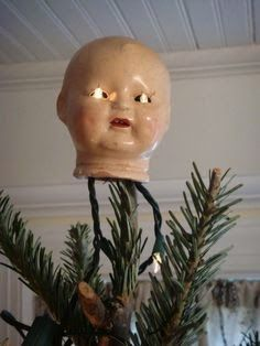 Creepy Christmas Tree Toppers for #Creepmas