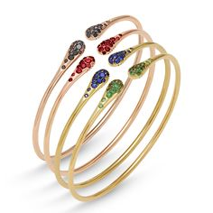 gold bracelet with precious stones from iside collection by #pontevecchiogioielli