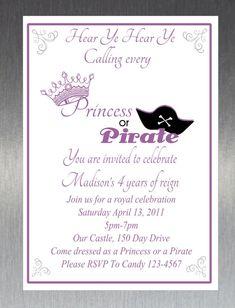 Princess and pirate invitation pinterest pirate birthday party princess and pirate invitation pinterest pirate birthday party invitations and princess filmwisefo