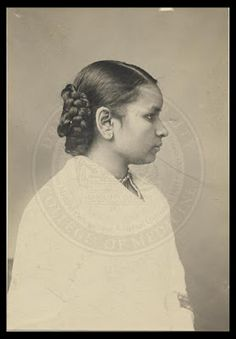 """Anandibai Gopalrao Joshee better known as """"Anandi Gopal Joshi"""" Occupation: Physician Major Accomplishment: First Hindu Woman to receive a degree in Western medicine, Queen Victoria sent her a congratulatory message."""