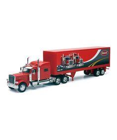 Love this Red Peterbilt 389 Long-Haul Truck Toy on #zulily! #zulilyfinds