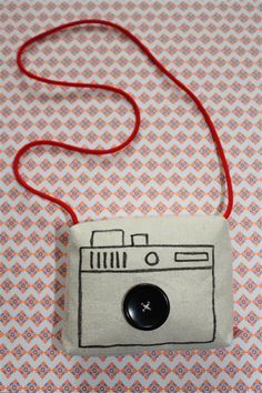 Kids camera made of fabric