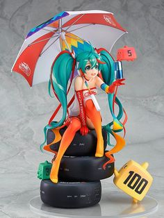 The official character of the 2016 Hatsune Miku GT Project! The official character of the Hatsune Miku GT Project 'Racing Miku' has been transformed into a scale figure based on her 2016 design! The illustration by popular animator Mai Y. Vocaloid, 3d Figures, Action Figures, Racing Wallpaper, Manga Art, Anime Art, Anime Toys, Anime Play, Mode Shop