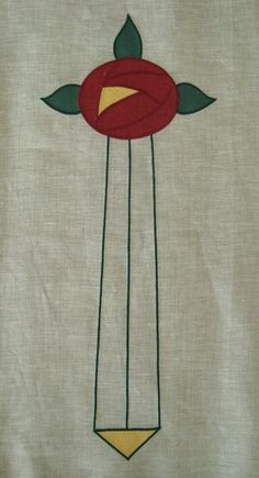 """Berlin Rose, long: a large rose design (flower is 6"""" across) great for a portiere or bedding, $35.00."""