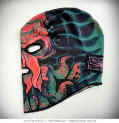 Cthulhu halloween monster mask! Illustrated and designed by Tory Novikova