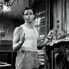 "Marlon Brando in ""A Streetcar Named Desire"" (1951)"