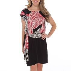 This is one of my favorites on totsy.com: Print to Solid Dress with Self Belt