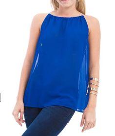 Fashion Top Royal Blue