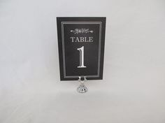 Short Stand with ChalkboardTable Number by Planning & Props, LLC  www.planningandprops.com