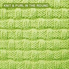 Quick and easy Basket Weave stitch pattern. Quick and easy Basket Weave stitch pattern. Cast on a multiple of 6 stitches and repeat. Loom Knitting Stitches, Circular Knitting Needles, Knitting Patterns Free, Stitch Patterns, Free Knitting, Spool Knitting, Knitting Ideas, Knit Patterns, Simply Knitting