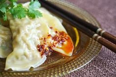 Boiled Pork and Cabbage Dumplings by Steamy Kitchen