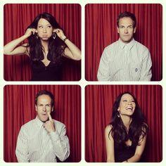 Lucy Liu and Jonny Lee Miller. Sherlock and Watson.  Elementary