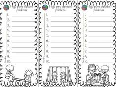 Plantillas de dictados (14) Más Letter Activities, Class Activities, Elementary Spanish, Teaching Spanish, Math Tools, Classroom Labels, School Tool, 2nd Grade Classroom, High Frequency Words