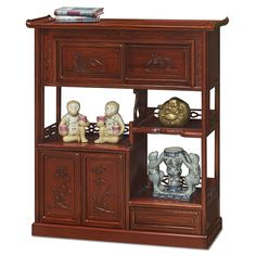 Rosewood Curio Display Cabinet