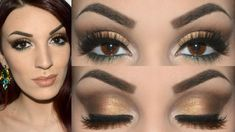 Trucco oro e bronzo estivo con i prodotti Nabla Cosmetics - Make up tuto...