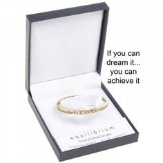 If you can dream it…you can achieve it – Gold Plated Quote Bangle