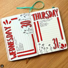 17 Epic red bullet journal spreads | My Inner Creative