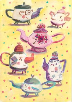 Lovely teapots by Ania Simeone