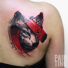 Cores vibrantes e pinceladas fortes. Szymon Gdowicz tatua como se pintasse um…