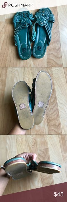 Frye sandals Practically brand new (only worn a few times) Frye slip on sandals. They fit true to size and are very comfortable. Offers accepted❤️ Frye Shoes Sandals