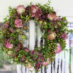 groen met rozen