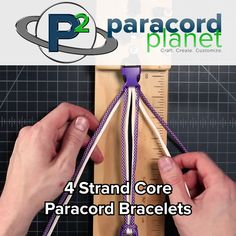 Paracord Bracelets - 4 Strand Core Variations Looking for thicker bracelet weaves? Here are 3 you can try! More videos and complete tutorials can Paracord Braids, Paracord Knots, Paracord Bracelets, Macrame Bracelets, Gold Bracelets, Diamond Earrings, Paracord Weaves, Drop Earrings, Paracord Tutorial