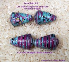 I have had many request for my printable templates without the tutorials so I decided to offer a few and see if my customers who know how to make paper beads are interested. This listing is not a tutorial it is a template and is intended for customers who have some experience