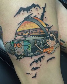 Rick and Morty /Fear and Loathing In Las Vegas tattoo Tattoo Drawings, Body Art Tattoos, Small Tattoos, Sleeve Tattoos, Cool Tattoos, Tatoos, Future Tattoos, Tattoos For Guys, Tatuaje Rick And Morty
