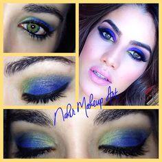 Maquillaje en azul klein y amarillo inspirado en Camila Coelho mi youtuber favorita!
