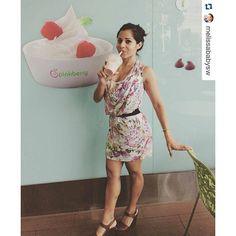 @melissababysw toma los #smoothies de fresas y leche descremada y endulzados con miel de @pinkberrypanama para combatir el calor panameño