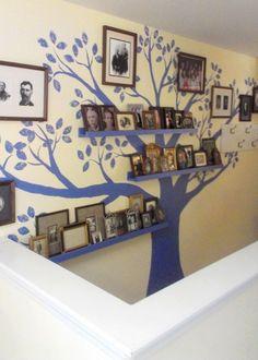 New family tree mural photo displays Ideas