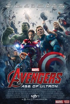 "Marvel's ""Avengers: Age of Ultron"" movie poster - in theaters May !"