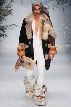 men's furs -Natural Beaver Fur Coat | LUXURY