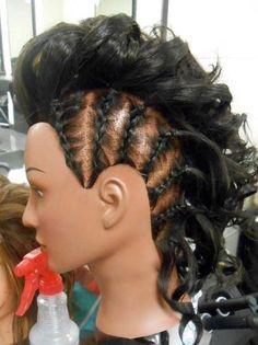 Braided Mohawk hairstyle | Cosmetology | Pinterest