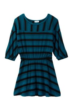 Fashion Stripe Dress (Little Girls)