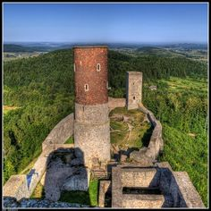 Ruins of the castel in Checiny, Poland Castle Ruins, Abandoned Castles, Historical Architecture, Monument Valley, Manor Houses, Landscape, Forts, Travel, Image