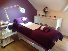 Beauty Salon Day Spa specialising in Harley Waxing Advanced Bikini Waxes Bio Sculpture Gel Nails Matis Facials Body Treatments Massage in Ballyclare Home Beauty Salon, Beauty Salon Decor, Home Salon, Beauty Spa, Beauty Salons, Hair Salon Interior, Salon Interior Design, Salon Design, Spa Room Decor